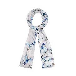 RJR.John Rocha - Designer natural orchid lace print scarf