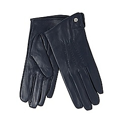 RJR.John Rocha - Navy leather gloves