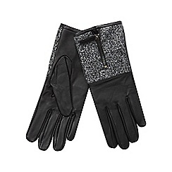 RJR.John Rocha - Black knitted cuff leather gloves