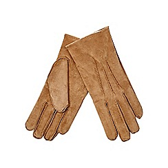 RJR.John Rocha - Camel fleece lined suede gloves
