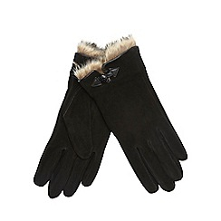 RJR.John Rocha - Black suede gloves