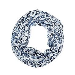RJR.John Rocha - Designer blue oriental floral snood