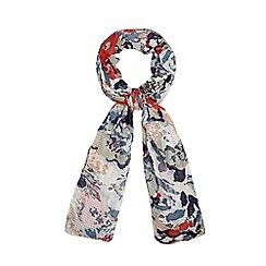 RJR.John Rocha - Designer off white textured floral scarf