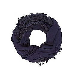 RJR.John Rocha - Navy lace trim snood