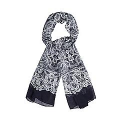 RJR.John Rocha - Navy lace print scarf