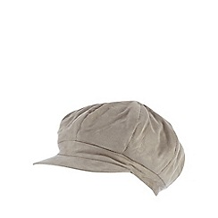RJR.John Rocha - Light grey faux fur lined baker boy cap