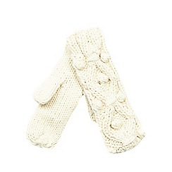 RJR.John Rocha - Cream lattice knit mittens