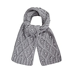 RJR.John Rocha - Light grey lattice knit scarf