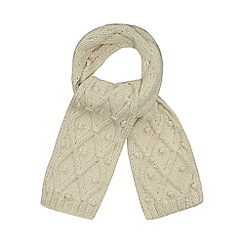 RJR.John Rocha - Cream lattice knit scarf
