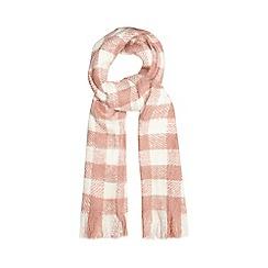 RJR.John Rocha - Pink check scarf