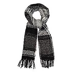 RJR.John Rocha - Grey checked blanket scarf