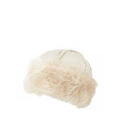RJR.John Rocha - Cream faux sheepskin cossack hat
