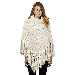 RJR.John Rocha - Cream chunky knit poncho