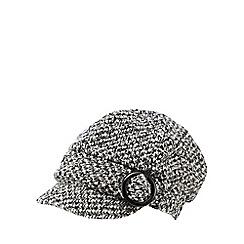 RJR.John Rocha - Grey circle buckle baker boy cap