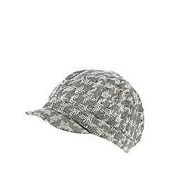 RJR.John Rocha - Grey chevron baker boy cap