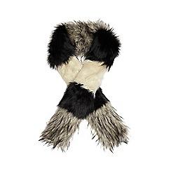 RJR.John Rocha - Black patchwork faux fur scarf