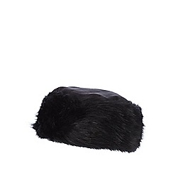 RJR.John Rocha - Black faux fur edge cossack hat
