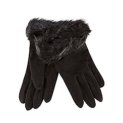 RJR.John Rocha - Black faux fur cuff gloves