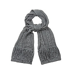 RJR.John Rocha - Grey cable knit scarf