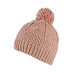 RJR.John Rocha - Pink cable knit beanie hat