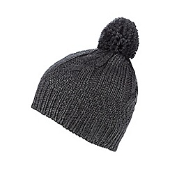 RJR.John Rocha - Dark grey cable knit hat