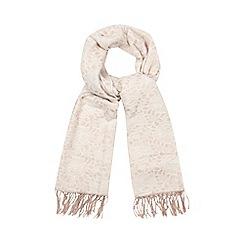 RJR.John Rocha - Pink lace jacquard scarf
