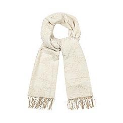 RJR.John Rocha - Cream lace jacquard scarf