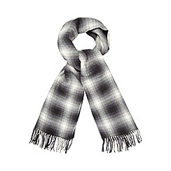 RJR.John Rocha - Grey checked scarf