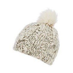 RJR.John Rocha - Cream cable knit hat