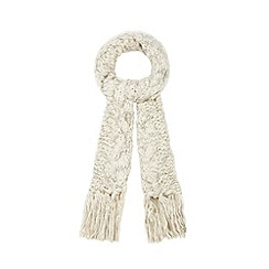RJR.John Rocha - Cream metallic cable knit scarf