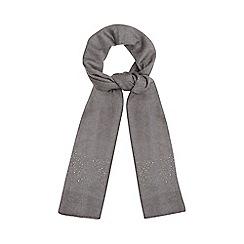 RJR.John Rocha - Grey embellished knit scarf