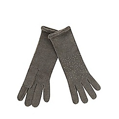 RJR.John Rocha - Grey studded gloves