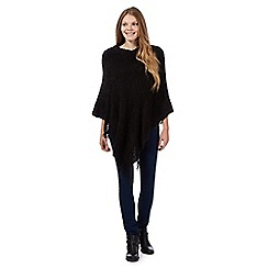 The Collection - Black bobble knit poncho
