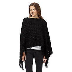 The Collection - Black sequin wave poncho