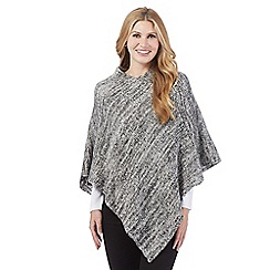 The Collection - Grey sequinned poncho