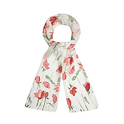 Debenhams - Red lightweight floral scarf