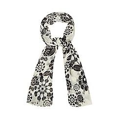 Debenhams - Black oriental floral scarf