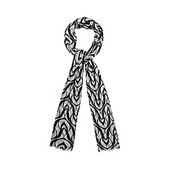 The Collection - Black deco swirl print scarf