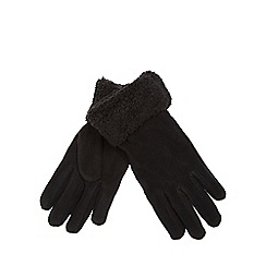 Mantaray - Black fleece gloves