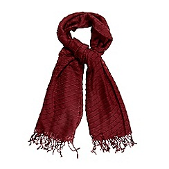 The Collection - Red pleated scarf