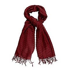 RJR.John Rocha - Red pleated scarf