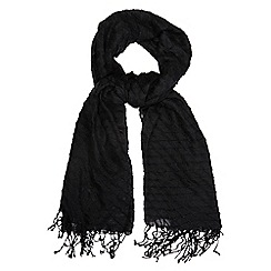 The Collection - Black pleated scarf