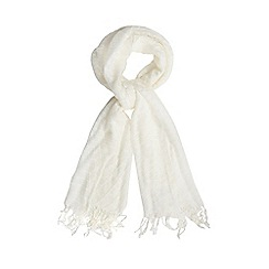 The Collection - Cream pleated scarf