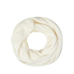 The Collection - Cream fluffy snood