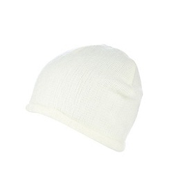 The Collection - Cream fluffy hat