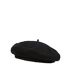 The Collection - Black wool beret