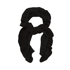 The Collection - Black ruffle scarf