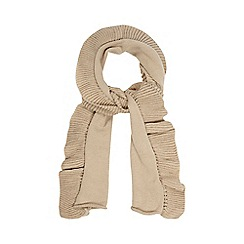 The Collection - Beige ruffle scarf