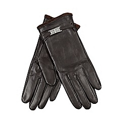 J by Jasper Conran - Dark brown leather gloves