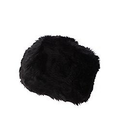 J by Jasper Conran - Black faux fur cossack